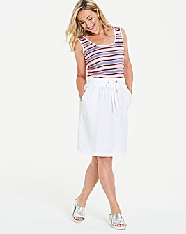 Slouch Linen Mix Knee Length Skirt