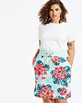 Mint & Pink Slouch Linen Mix Skirt