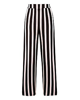 Stripe Wide Leg Jersey Trousers Regular
