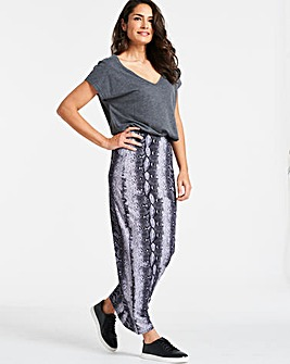 Snake Print Jersey Maxi Tube Skirt