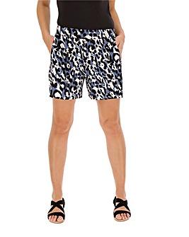 Animal Print Jersey Shorts