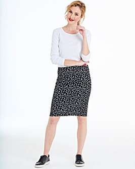 Spot Stretch Jersey Mini Tube Skirt