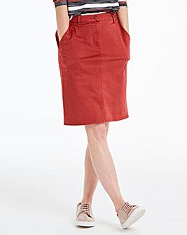 Petite Cotton Rich Chino Skirt