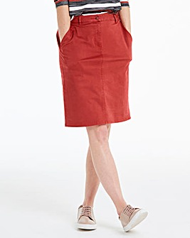 Comfort Stretch Chino Skirt
