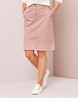 Comfort Stretch Chino Skirt