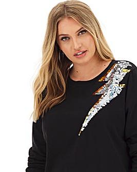 Lightening Bolt Sequin Sweatshirt