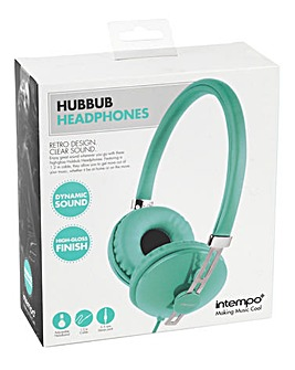 Intempo HubBub Headphones Aqua