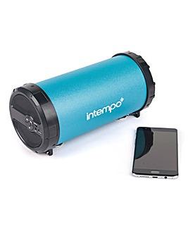 Intempo Large Tube Speaker Turquoise