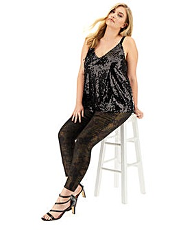 Black Sequin Cami