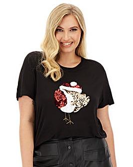 Robin Novelty Sequin T-Shirt