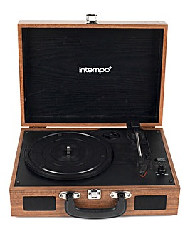 Intempo Wooden Effect Suitcase Turntable