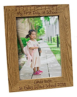 Personalised First Day at School Frame