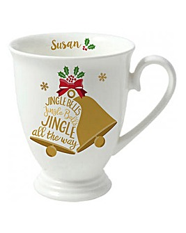 Personalised Jingle Bells Mug