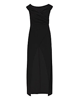 Black Wrap Maxi Tunic