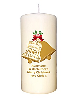 Personalised Jingle Bells Candle
