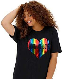 Rainbow Heart Pride T-Shirt