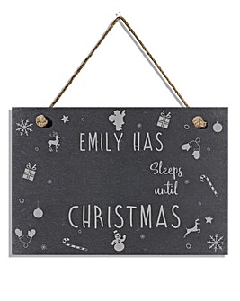 Personalised Countdown to Christmas