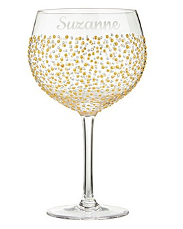 Pers Gold Dot Gin and Tonic Glass