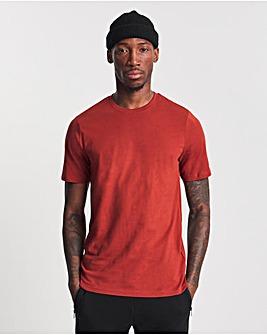 Burnt Orange Crew Neck T-shirt Long