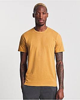 Mustard Crew Neck T-shirt Long