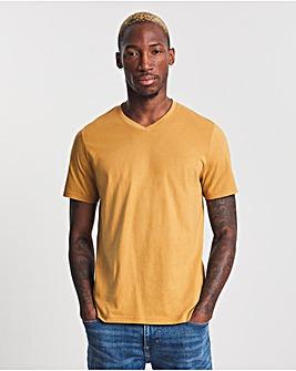 Mustard V-Neck T-shirt Long