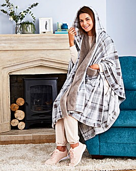 Printed Fleece House Cape
