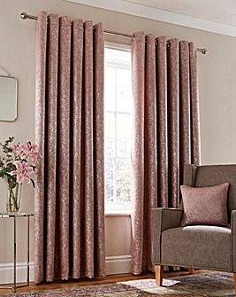 Thermal Woven Metallic Print Curtains