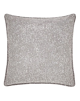 Woven Metallic Print Cushion Cover
