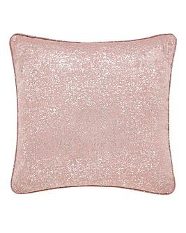 Woven Metallic Print Cushion Cover