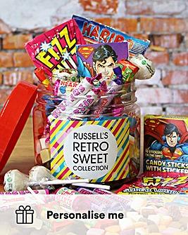 Personalised Retro Sweets Taster Jar