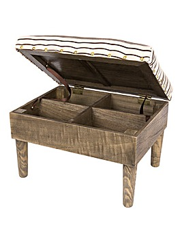 Deluxe Storage Footstool Striped