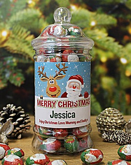 Personalised Christmas Chocolates Jar