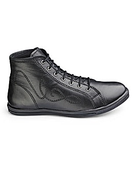 Girls Lace Up School Boots Wide Fit