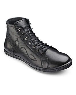 Girls Lace Up School Boots Standard Fit