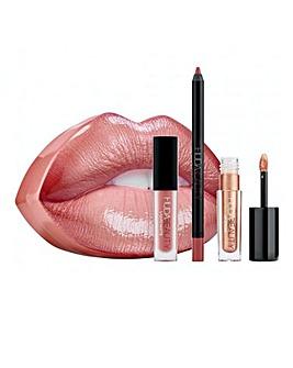 Huda Beauty Contour & Strobe Lip Set - Bombshell & Ritzy