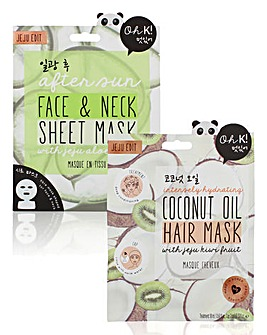 Oh K! After Sun & Coconut Oil Mask Set