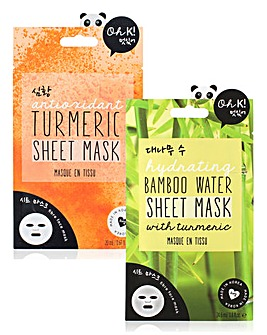 Oh K! Bamboo Water & Turmeric Mask Set
