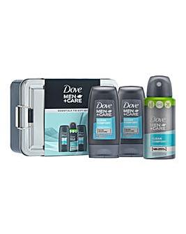 Dove Men+Care Mini Essentials Tin Gift Set