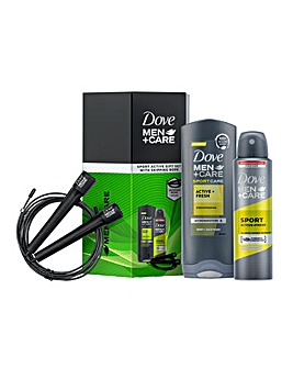 Dove Men+Care Sports Active Duo & Skipping Rope Gift Set