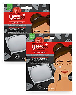Yes To Charcoal Sleeping Mask x2