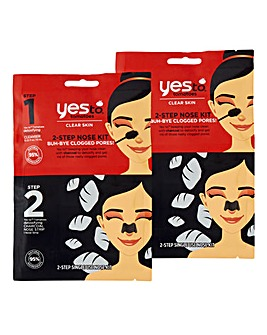 Yes To Charcoal Nose Kit x2