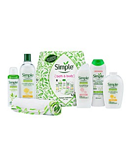 Simple Bath & Body Pamper Collection Gift Set