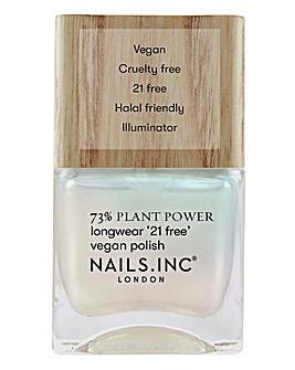 Nails Inc Plant Power Glowing Somewhere Nail Polish