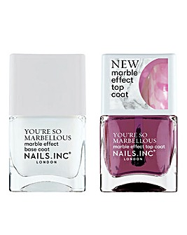 Nails Inc Marvel At The Marble Duo