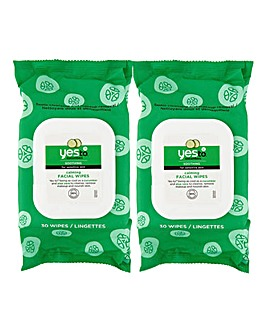 Yes To Cucumbers Soothing Hypoallergenic Facial Wipes Pack Of 30 - Set Of Two