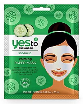Yes To Cucumbers Soothing Paper Mask Single Use - Set Of Two