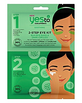 Yes To Cucumbers 2-Step Buh Bye Bags & Dark Circles Eye Kit