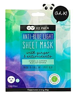 Oh K! Anti Blue Light Sheet Mask Duo