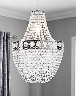 Hayle Clear Easy Fit Chandelier Shade
