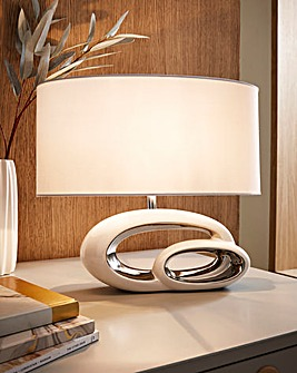 Elegant White Table Lamp